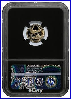 2018-W 1/10 oz Gold American Eagle PF $5 NGC PF70 UC FDI Blk Mercanti SKU53081
