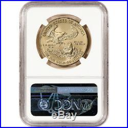 2018-W American Gold Eagle Burnished 1 oz $50 NGC MS70 First Day St Gaudens