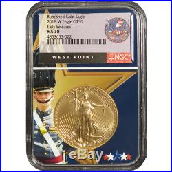 2018-W Burnished $50 American Gold Eagle 1 oz NGC MS70 Early Releases West Point