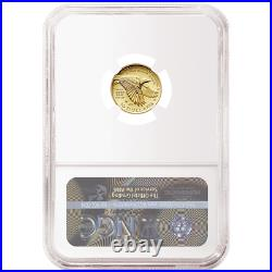 2018-W Proof $10 Gold American Liberty High Relief 1/10th oz NGC PF70UC Flag ER