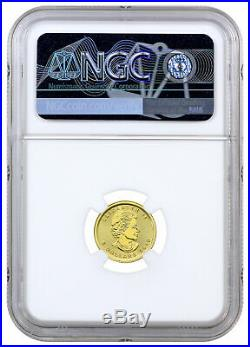 2019 Canada 1/10 oz Gold Maple Leaf $5 Coin NGC MS70 FDI First Day SKU55927