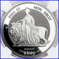 2019 England Una and Lion PF69 NGC Silver Coin Queen Victoria 1 oz gold coins
