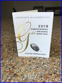 2019-W 1 oz Proof Gold Buffalo PF-70 NGC ER