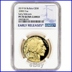 2019-W American Gold Buffalo Proof 1 oz $50 NGC PF70 UCAM Early Releases