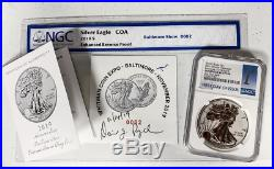 2019-s Enhanced Reverse Proof Silver Eagle SECOND COIN SOLD! BALTIMORE! FDOI