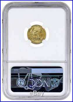 2020 1/10 oz Gold American Eagle $5 NGC MS70 Brown Label SKU59544