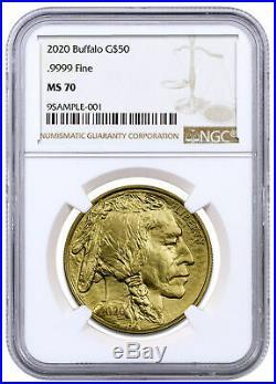 2020 1 oz Gold American Buffalo $50 Coin NGC MS70 Brown Label SKU59626