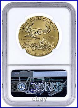 2020 1 oz Gold American Eagle $50 NGC MS70 Brown Label SKU59581