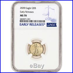 2020 American Gold Eagle 1/10 oz $5 NGC MS70 Early Releases