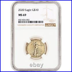 2020 American Gold Eagle 1/4 oz $10 NGC MS69