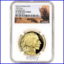 2020-W American Gold Buffalo Proof 1 oz $50 NGC PF70 UCAM Early Releases Bison