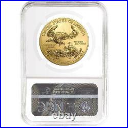 2020-W Burnished $50 American Gold Eagle 1 oz. NGC MS70 FDI First Label