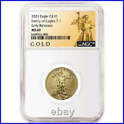 2021 $10 American Gold Eagle 1/4 oz. NGC MS69 ALS ER Label