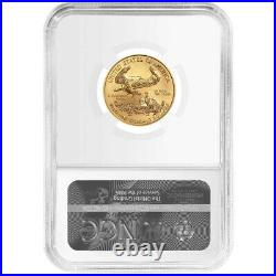 2021 $10 Type 1 American Gold Eagle 1/4 oz NGC MS69 Trump Label