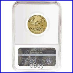 2021 $10 Type 1 American Gold Eagle 1/4 oz. NGC MS70 Brown Label