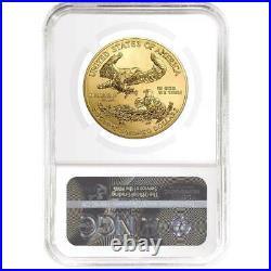 2021 $50 American Gold Eagle 1 oz. NGC MS70 Black ER Label