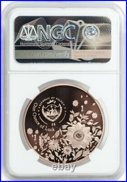 2021 $5 Palau Four-Leaf Clover 1oz Rose Gold Plated Silver Coin NGC PF70 UCAM ER