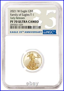 2021 W 1/10 oz Proof Gold Eagle NGC PF70 American Eagle Tenth Ounce