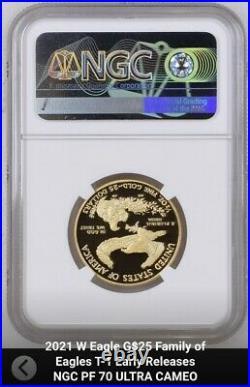 2021 W Proof 1/2 oz $25 Gold Eagle NGC PF70 ER