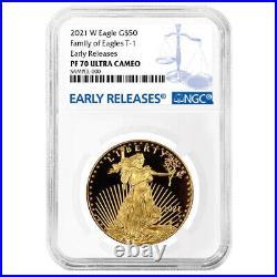 2021-W Proof $50 American Gold Eagle 1 oz. NGC PF70UC Blue ER Label