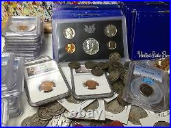 30 Coin LOT SILVER BARBER STANDING WALKING LIBERTY PCGS/NGC PROOF ROMAN GOLD#&20