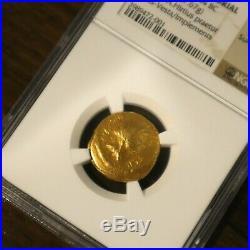 44 BC JULIUS CAESAR av Aureus Ancient GOLD Coin 7.67g NGC Choice VF 4/5 4/5 RARE
