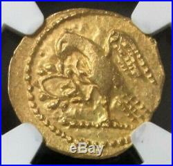 54 Bc. Gold Ancient Thracian Stater Coson Coin Ngc Choice About Unc 3/4