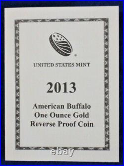9999 Fine Gold 2013W American Buffalo $50 Reverse Proof NGC Early Releases PF70