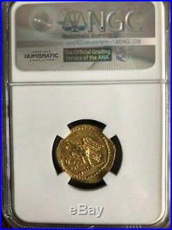 Brutus Julius Caesar Roman Assassin 44BC Ancient Greek GOLD Coin NGC MS i66641