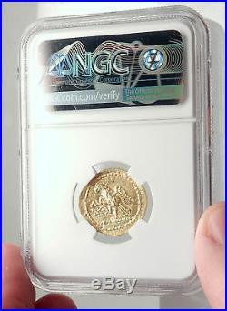 Brutus Julius Caesar Roman Assassin 44BC Ancient Greek GOLD Coin NGC MS i71697