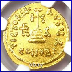Byzantine Heraclonas Heraclius AV Solidus Gold Coin 632-641 AD NGC MS (UNC)