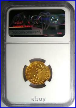 Byzantine Justinian II AV Solidus Gold Coin 685-695 AD. Certified NGC MS (UNC)