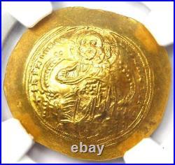 Constantine IX AV Gold Histamenon Nomisma Christ Coin 1042-55 AD NGC MS (UNC)