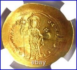 Constantine X AV Gold Histamenon Nomisma Christ Coin (1059-67 AD) NGC AU
