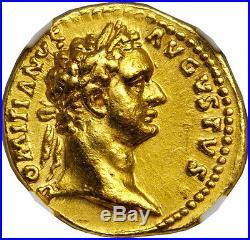 DOMITIAN 92AD Germany Capture Aureus Authentic Ancient Roman Gold Coin NGC AU