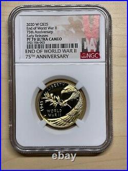 End of World War II 75th Anniversary 24-Karat HALF OUNCE Gold Coin NGC PF70