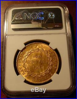 France 1886 A Gold 100 Francs NGC MS64 Angel