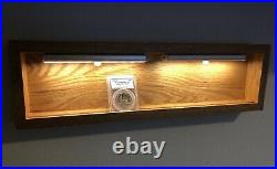 Graded Coin Display Shelf Stand Holder LED Lights For PCGS/NGC Slab Gold Silver