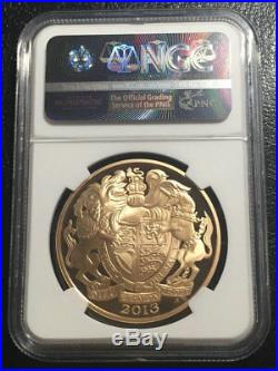 Great Britain 2013 Queen's Coronation Gold Five Pound 4 coins set ALL NGC PF70UC