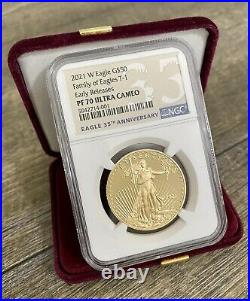 IN HAND-NGC PF70 2021 W 1 oz Proof Gold Coin American Eagle One Ounce West Point