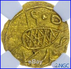India Sikh Empire Diwan Mulraj Gold Emergency Rupee Multan VS1905 KM87 NGC MS66