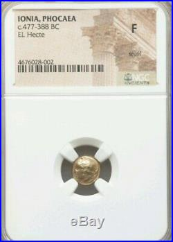 Ionia, Phocaea El Hecte 1/6th Stater NGC Fine Ancient Gold Coin