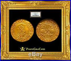 Italy, Genoa 1541 Full Date Gold Scudo D'oro Ngc 40 Most Coin Undated! Doges