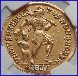 JULIAN II 361 AD Authentic Ancient Roman Pedigreed GOLD SOLIDUS Coin NGC Ch XF
