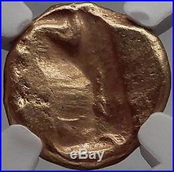 King Xerxes II to Artaxerxes II Achaemenid Gold Daric Ancient Greek Coin NGC AU