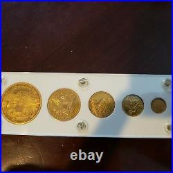 Liberty Gold Type 5-Coin Set ($1, $2.50, $5, $10, $20)