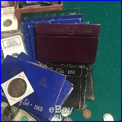 Lot Of Us Silver Coins, Proof Sets, Pcgs, Currency & More Collectors Grab Bag