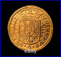 MEXICO 1714 ROYAL 8 ESCUDOS PURE 24kt. GOLD DOUBLOON 1715 FLEET TREASURE COIN
