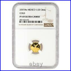 Mexican Gold Libertad Set with Cert & ALL NGC PF69 Ultra Cameo RARE