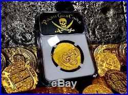 Mexico 1715 Ngc 63 Fleet Shipwreck 8 Escudos Pirate Gold Coins Treasure Cobs